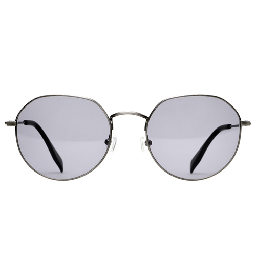 HUGE - Silver Sunglasses(Gray Lens)
